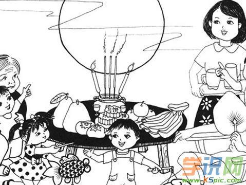 中秋节儿童简笔画图片