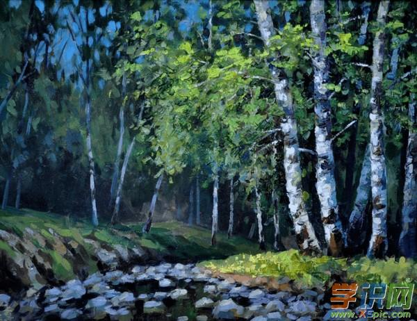 水粉写生风景画素材欣赏