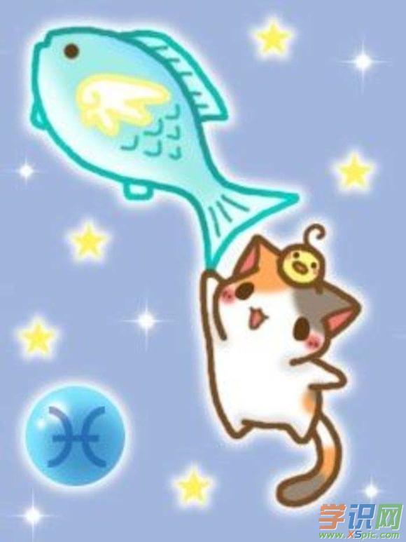 星座可爱猫咪图片