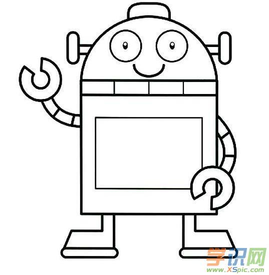 机器人简笔画画法大全 机器人简笔画图片大全