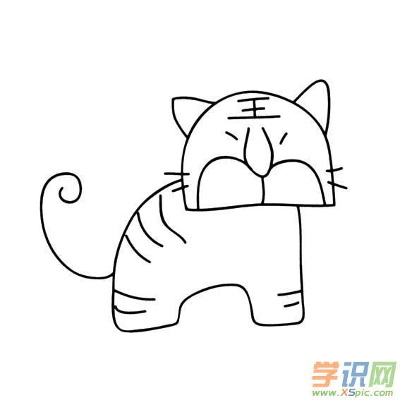 儿童画画大全简笔画动物老虎