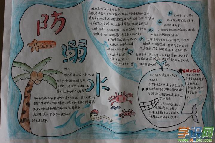 小学五年级防溺水手抄报图片大全