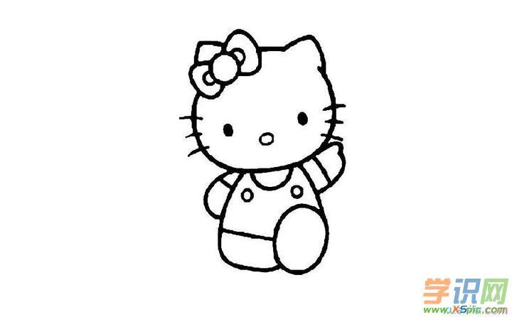 简笔画动物画法小猫步骤图      6.彩虹怎么画简笔画图片