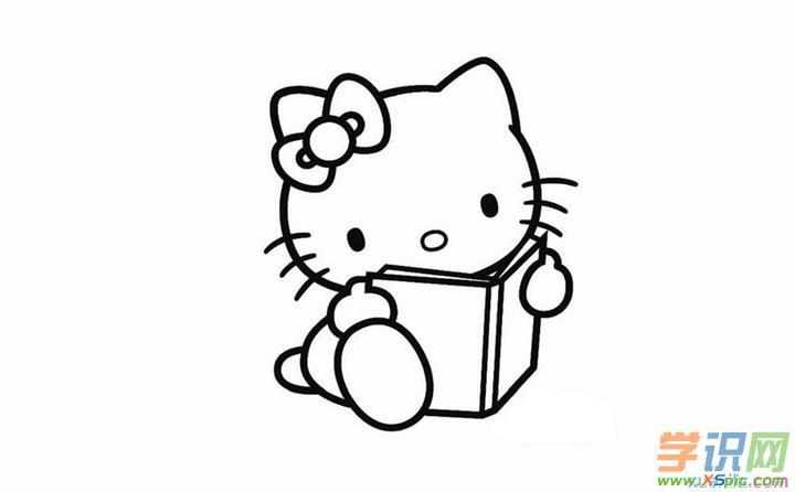 hellokitty简笔画步骤画法      5.简笔画动物画法小猫步骤图      6.