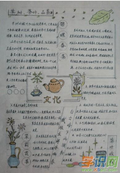 语文 手抄报 文化手抄报     此茶主要供一些少数民族饮用,藏族,蒙古