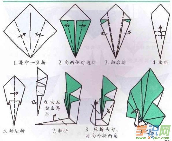 幼儿简单折纸方法图解大全图片