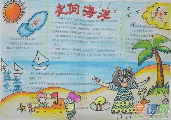 海洋手抄报版面设计图