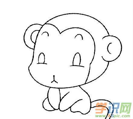 超萌可爱猴子简笔画 可爱猴子简笔画图片