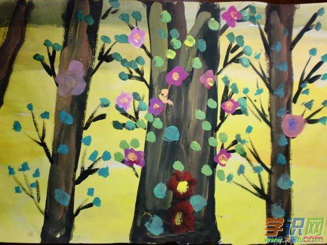 儿童水粉画作品欣赏_儿童水粉画图画