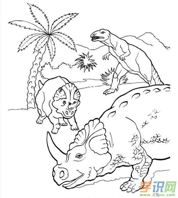 恐龙的简笔画图片大全