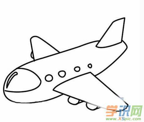 学画画飞机儿童学画飞机图片