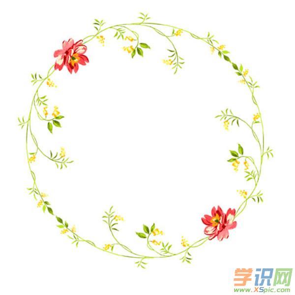 学识网 语文 黑板报大全 花边边框     大家喜欢圆形的花边框吗?