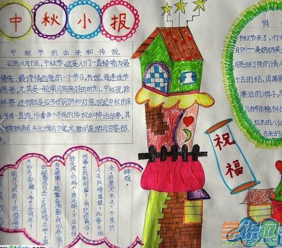 中秋节英文手抄报图片
