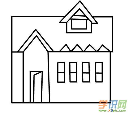 漂亮的房子简笔画 未来的房子简笔画