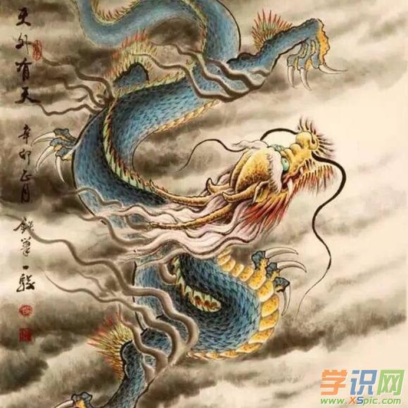 中国画中国龙图片欣赏
