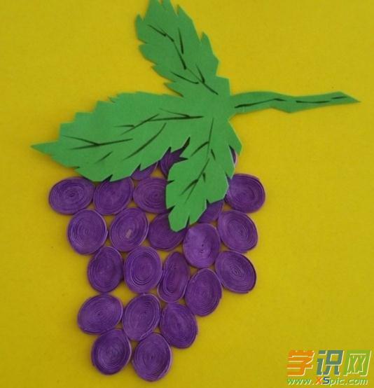 幼儿手工制作图片19:葡萄