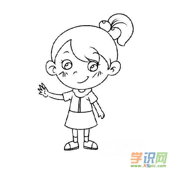 儿童简笔画大全小女孩_小女孩人物简笔画