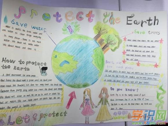 小学生英语手抄报简笔画