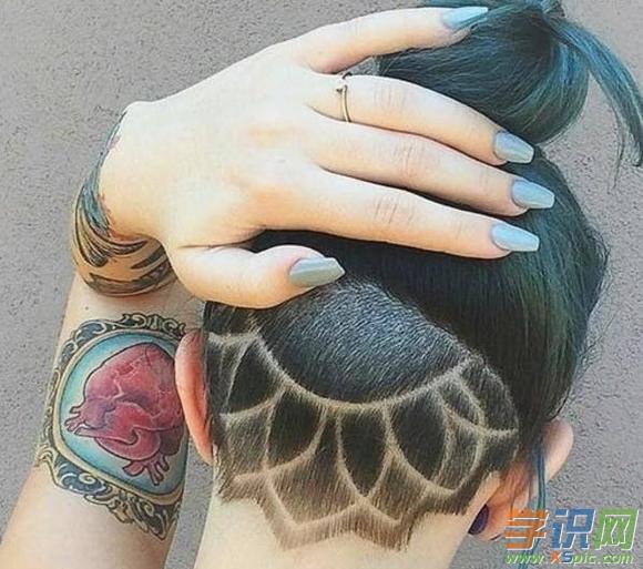 简单的头发雕刻图案大全