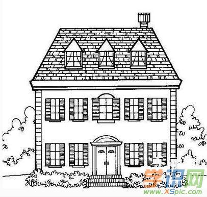房子素描简笔画