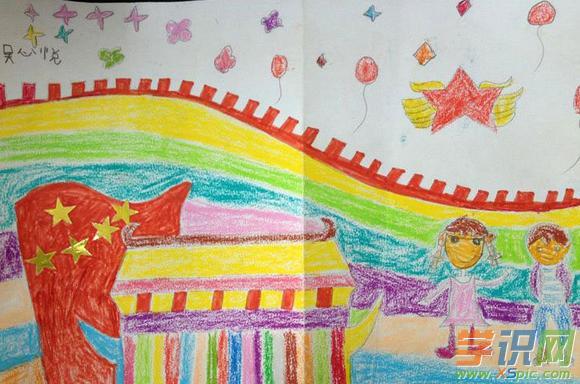六年级国庆节绘画_六年级儿童国庆画