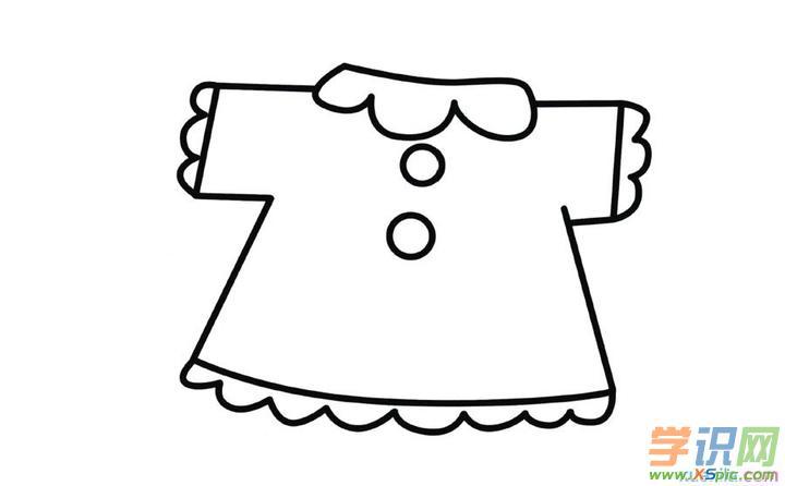 幼儿简笔图画衣服图片