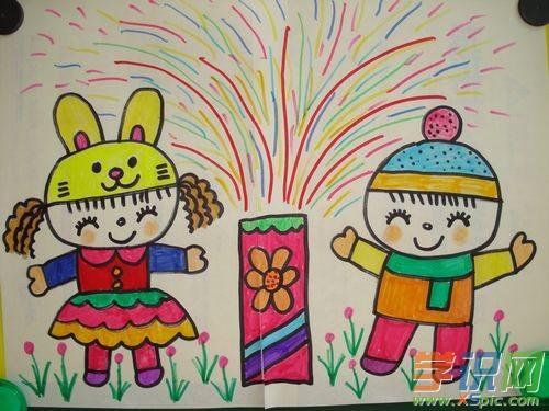 儿童春节绘画作品 儿童春节画画大全
