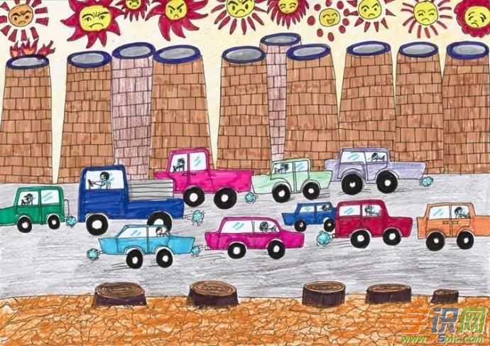 高中环保绘画图片大全 环保主题高中绘画