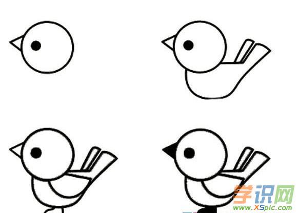 小鸟简笔画怎么画 小鸟简笔画步骤