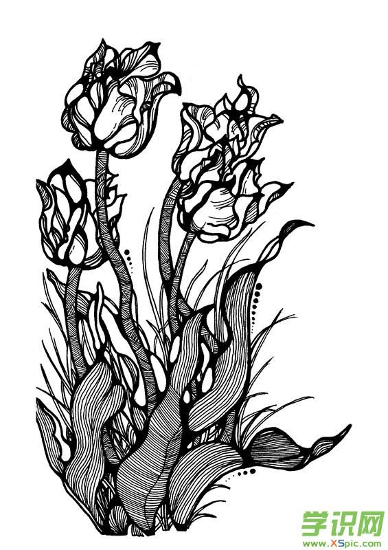 点线面黑白装饰画素材图片