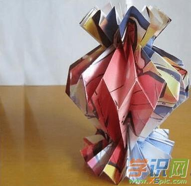 立体花瓶折纸教程图解