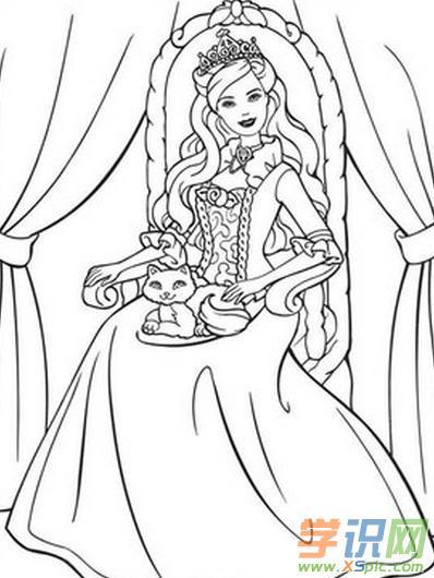 芭比公主裙图画 芭比公主裙简笔画