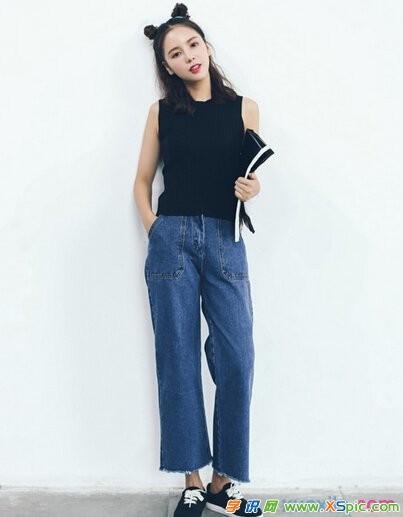 牛仔裤时尚混搭的方法