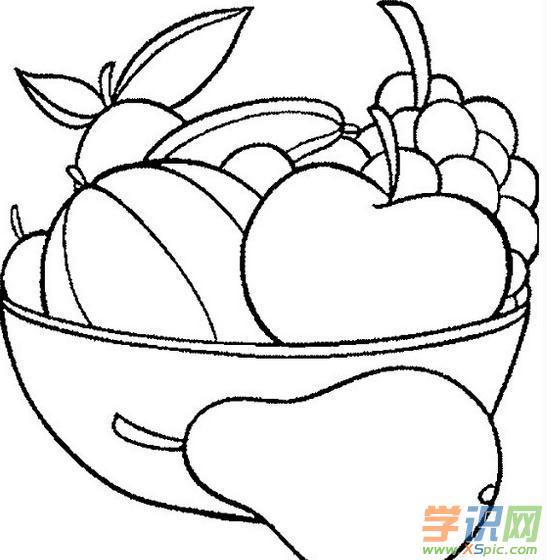 幼儿简笔画水果篮 水果篮简笔画大全