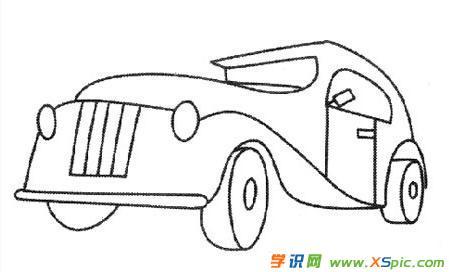 儿童画画大全简笔画汽车 儿童汽车画画图片大全图片