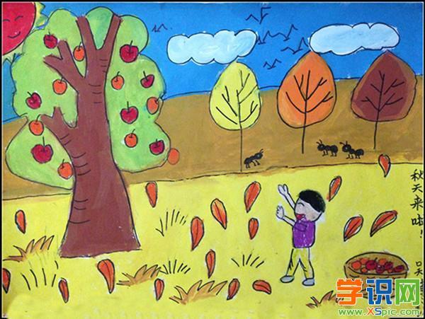 幼儿秋天主题绘画_幼儿绘画作品秋天