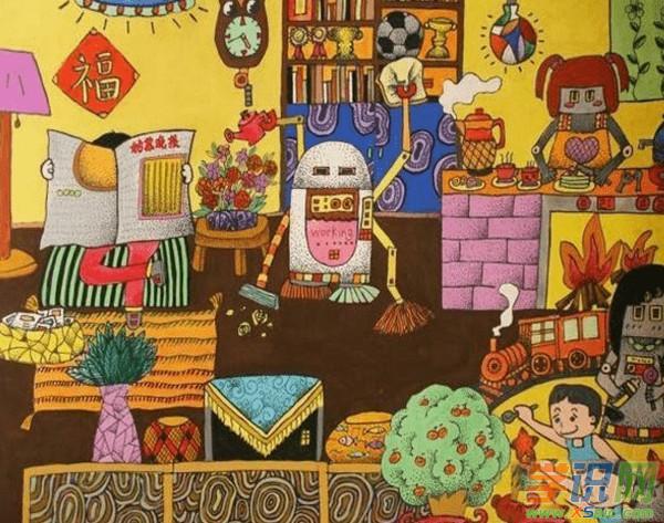 六年级绘画作品得奖图片 六年级获奖绘画作品