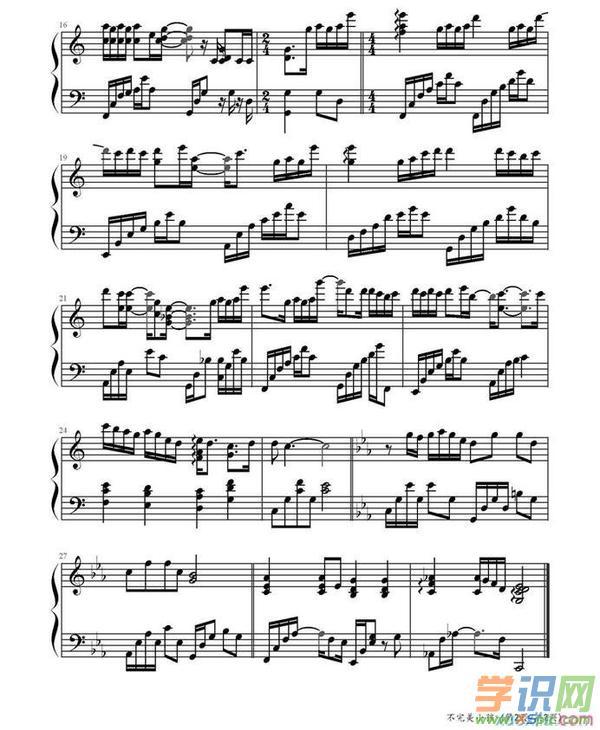 不完美小孩钢琴谱_tfboys不完美小孩歌词