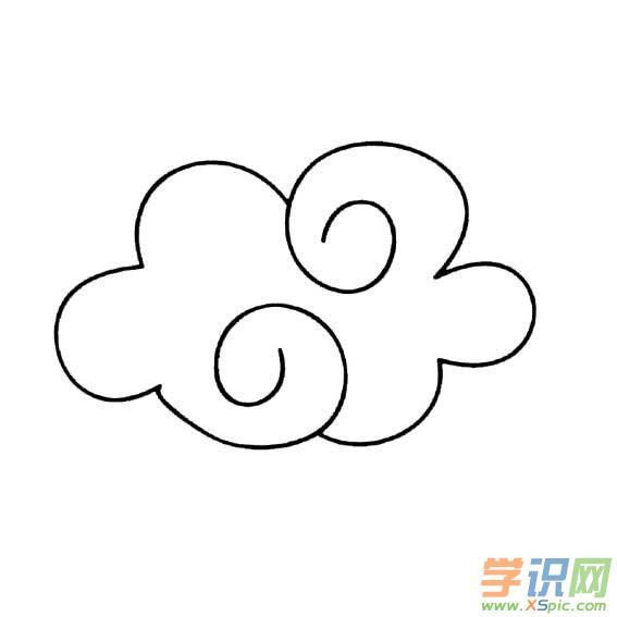 幼儿简笔画云朵的画法图片 幼儿云朵简笔画图片
