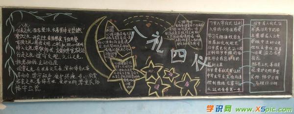 【关于八礼四仪的黑板报】关于八礼四仪黑板报内容