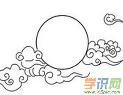 中秋节月亮简笔画图片