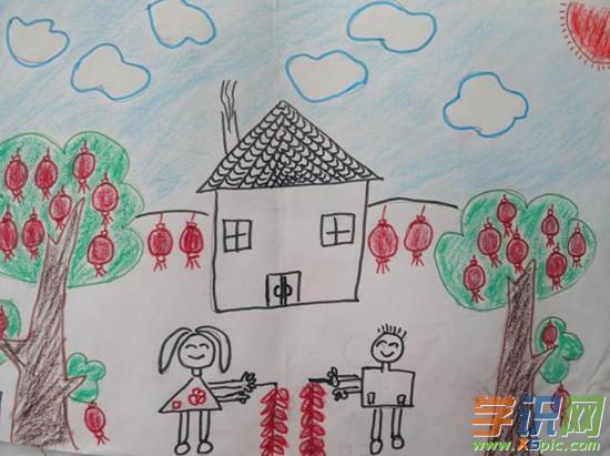 小学五年级上册元旦绘画图片