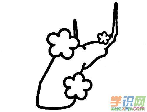 教儿童学画画步骤:梅花