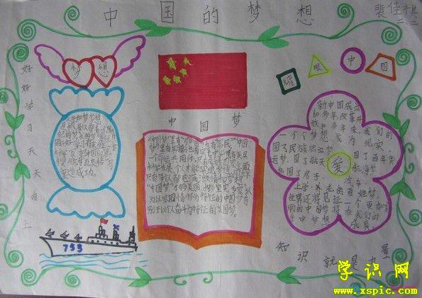 中国梦手抄报资料:梦想是美丽
