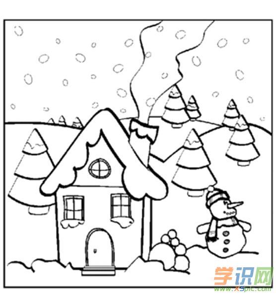 冬天简笔画图片大全 美丽的冬天简笔画图片