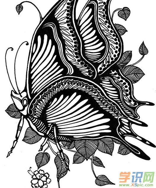 黑白装饰画动物素材_黑白装饰画动物图片