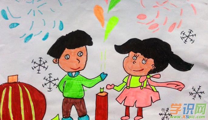 儿童新年画画图片大全