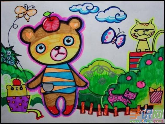 小学四年级绘画大全 小学四年级绘画作品图片