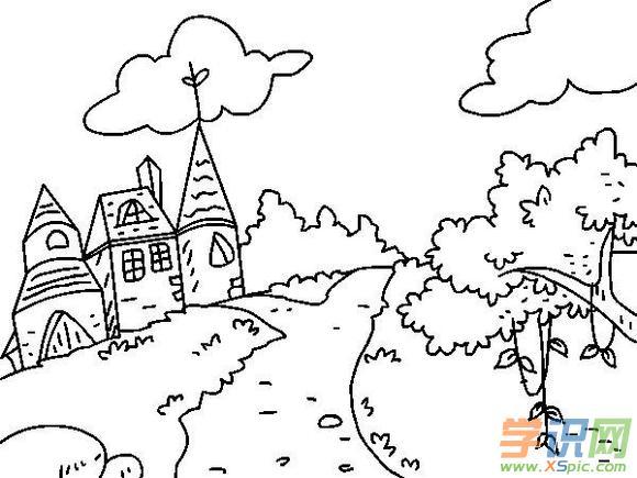 儿童简笔画图片大全风景画