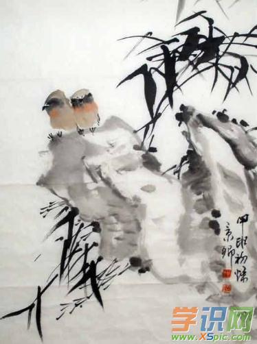 石涛花鸟画作品欣赏